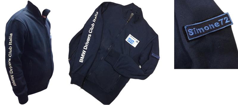 BMW Drivers merchandise - felpa bianca e blu